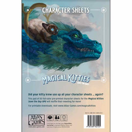 Atlas Games Magical Kitties Save the Day: Character Sheets
