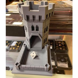 Adam Edmiston Large 3D Printed Dice Tower - Grey