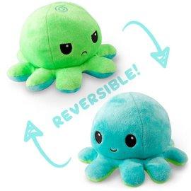 Tee Turtle Reversible Octopus Plushie: Green and Aqua
