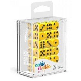 Oakie Doakie Oakie Doakie 36 12mm D6 Dice Block - Solid - Yellow