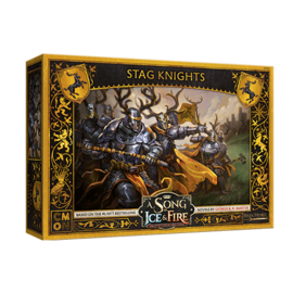 Cool Mini or Not A Song of Ice & Fire: Tabletop Miniatures Game - Baratheon Stag Knights Unit Box