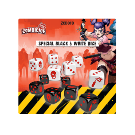 Cool Mini or Not Zombicide 2nd Edition - Black and White Dice
