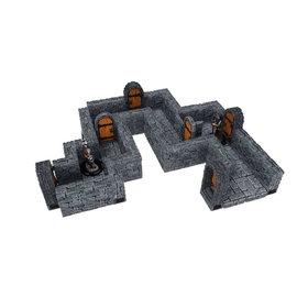 "Wiz Kids WarLock Tiles: Dungeon Tiles - Straight 1"" Walls"