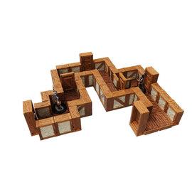 "Wiz Kids WarLock Tiles: Town & Village - Straight 1"" Walls"