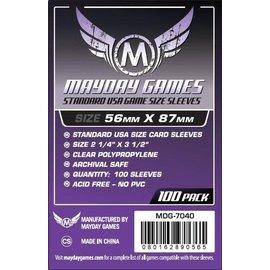 Mayday Games Mayday Sleeves: Standard USA Sleeves 56mm x 87mm Purple (100)