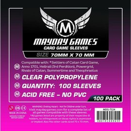 Mayday Games Mayday Sleeves: Small Square Sleeve 70mm x70mm (100)