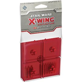 Fantasy Flight Star Wars X-Wing Miniatures Game: Red Bases and Pegs