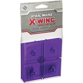 Fantasy Flight Star Wars X-Wing Miniatures Game: Purple Bases and Pegs