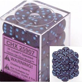 Chessex 36 12mm D6 Dice Block - Speckled - Cobalt - CHX25907