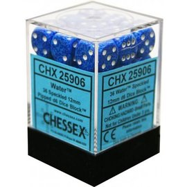 Chessex 36 12mm D6 Dice Block - Speckled - Water Elemental - CHX25906