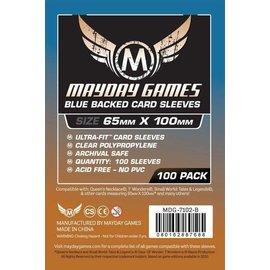 "Mayday Games Mayday Sleeves: 100 ct Magnum Copper ""7 Wonders"" Card Sleeves - Blue"