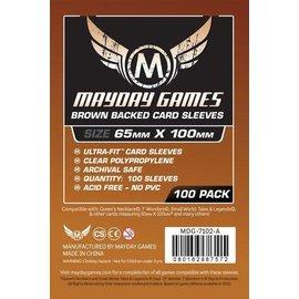 """Mayday Games Mayday Sleeves: 100 ct Magnum Copper """"7 Wonders"""" Card Sleeves - Brown"""