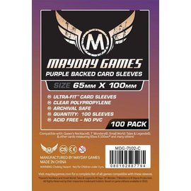 "Mayday Games Mayday Sleeves: 100 ct Magnum Copper ""7 Wonders"" Card Sleeves - Purple"