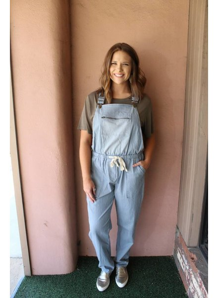 Fantastic Fawn Weekend Denim Tie Overalls