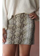 Honey Belle Sassy Snake Mini Skirt