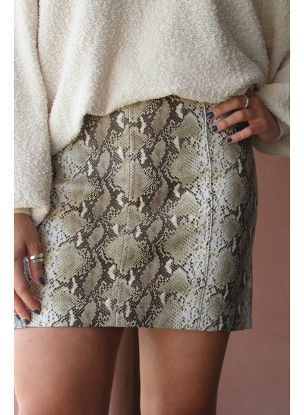 Honey Belle Sassy Snake Mini Skirt