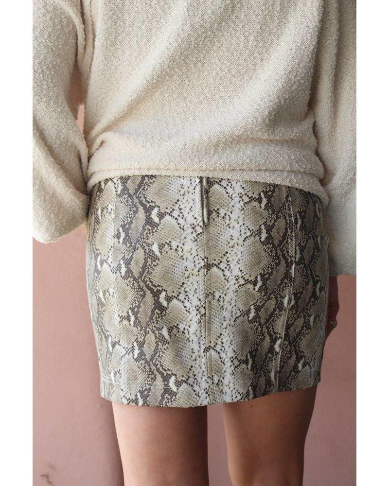 Honey Belle Sassy Snake Mini Skirt 7IS4663D-1