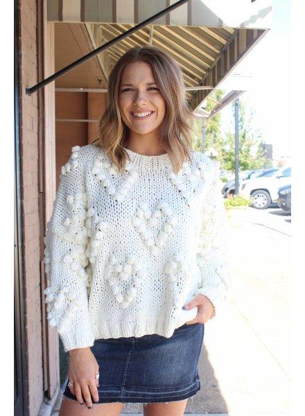 Wishlist Babe Bubble Cream Sweater