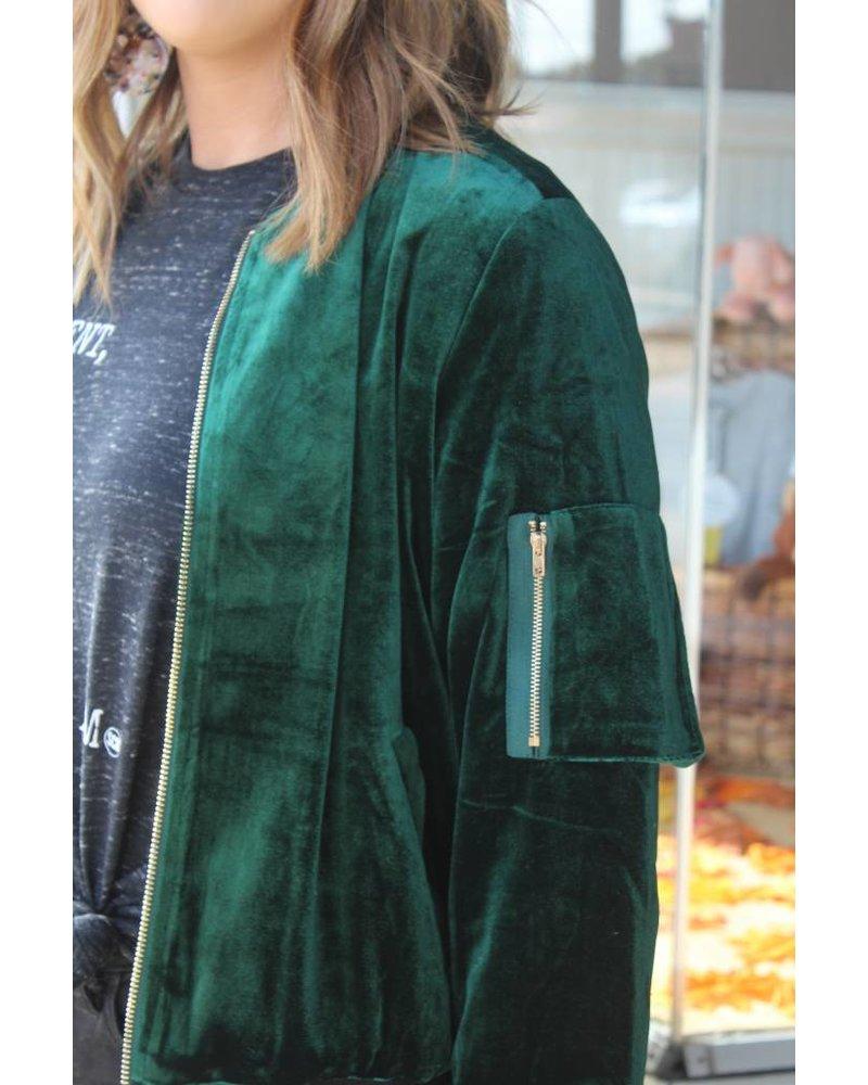 Fashionistas Viv Velvet Bomber