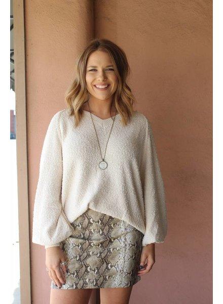 Fiona Fuzzy Sweater Ivory J20161