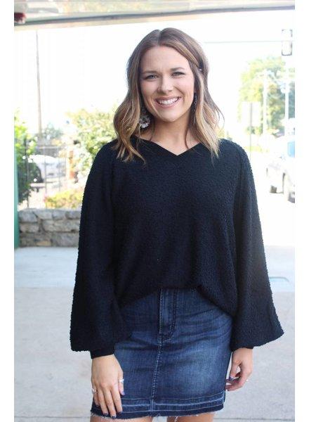 Fiona Fuzzy Sweater Black