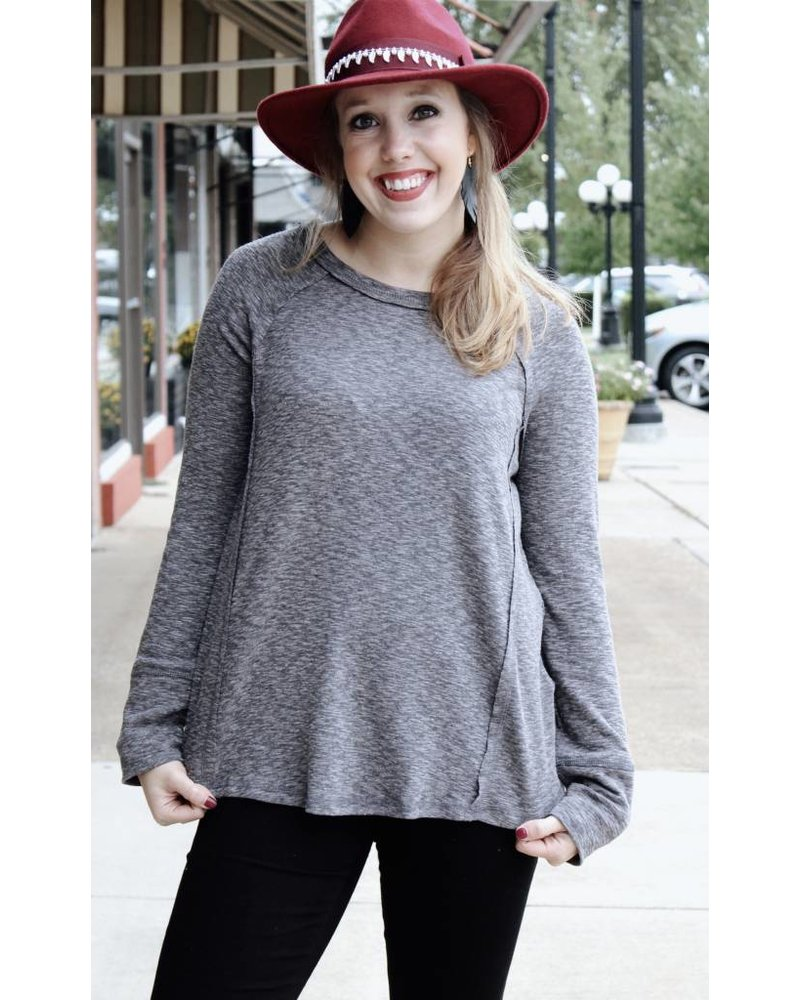 Loveriche Delilah Grey Heather Sweater LT24105