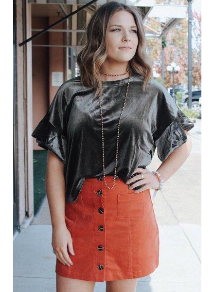 Fashionistas Caroline Velvet Top