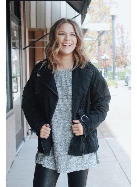 Fashionistas Becca Black Denim Jacket
