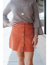 Nadia Buttoned Pocket MIni Skirt