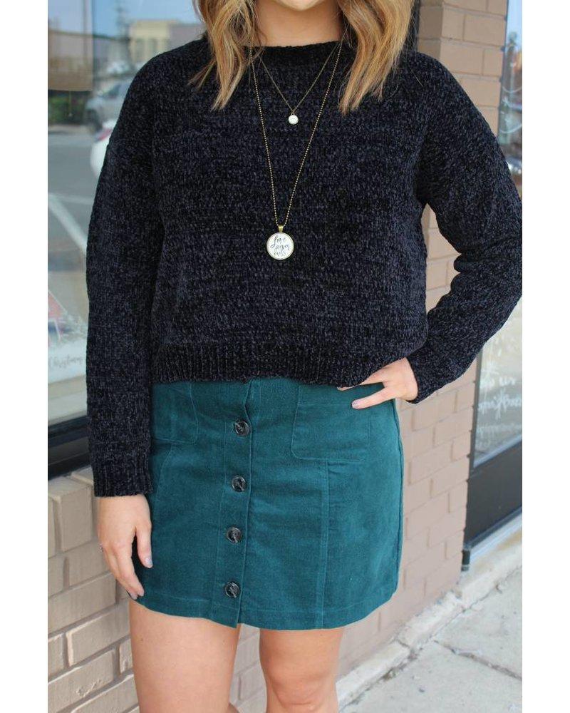Nadia Buttoned Pocket MIni Skirt JOB-581306