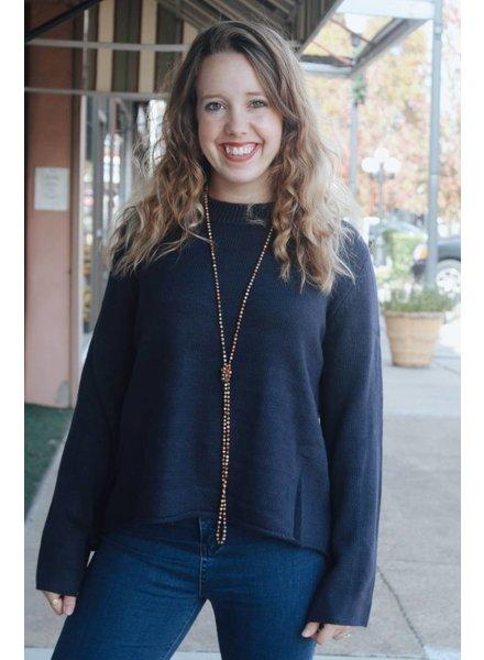 Fashionistas Melissa Navy Tie Sweater
