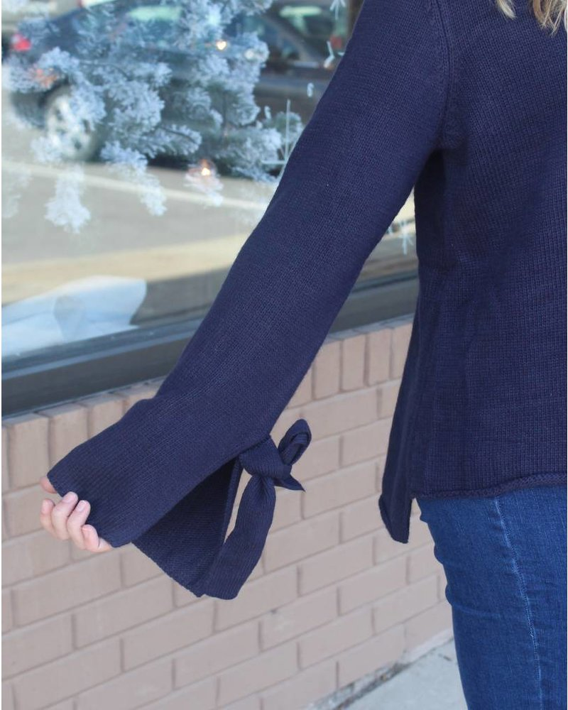 Fashionistas Melissa Navy Tie Sweater T11724