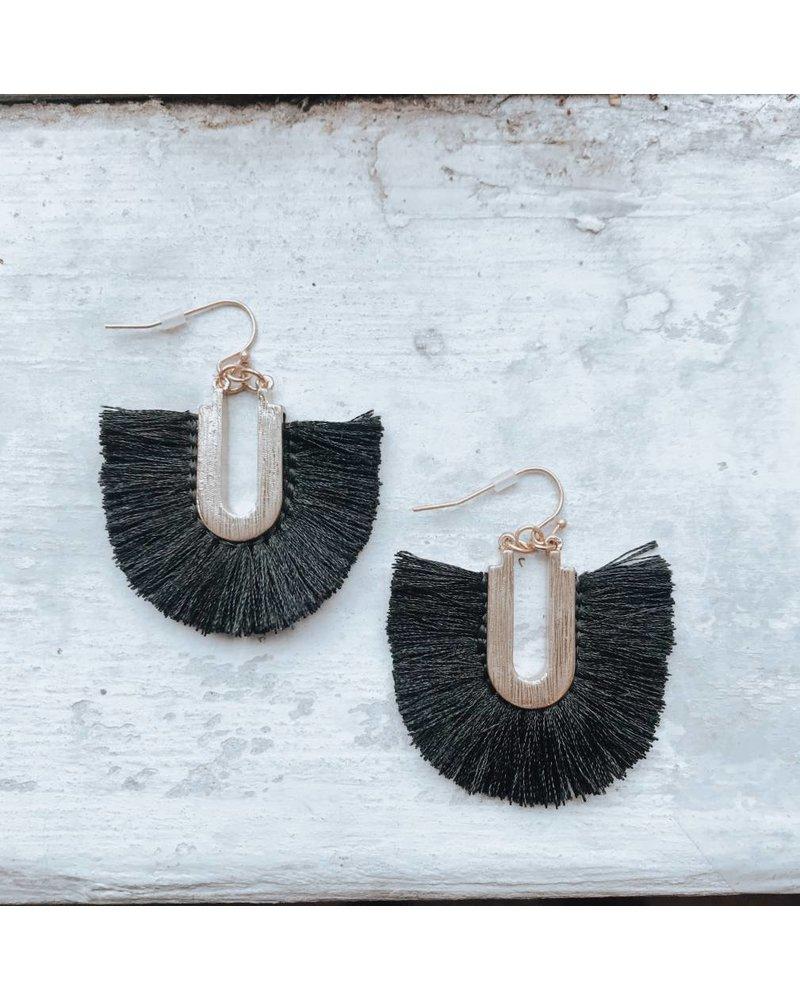 Black Tassel Earring