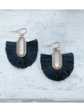 Navy Tassel Earring