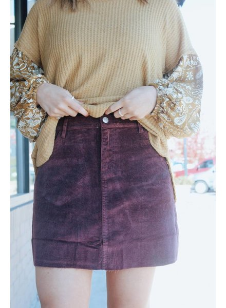 Faith Apparel Emiline Corduroy Mini Skirt
