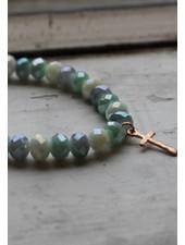 Mermaid Tone Cross Stretch Bracelet