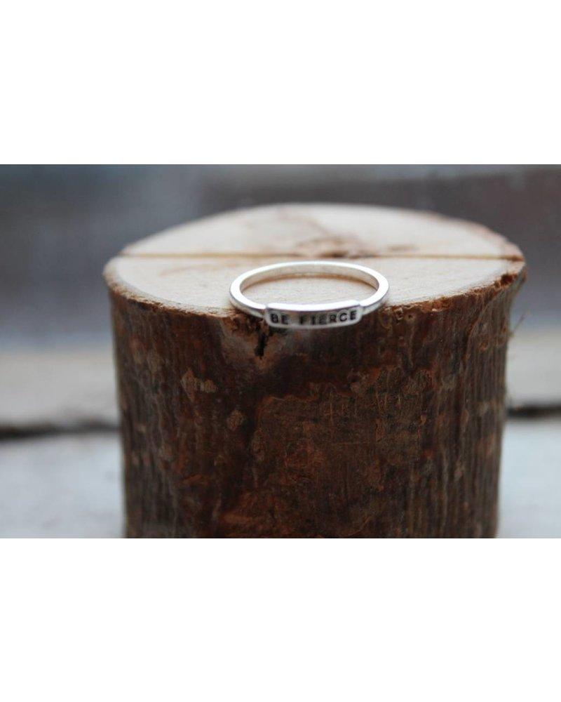 Be Fierce Silver Ring