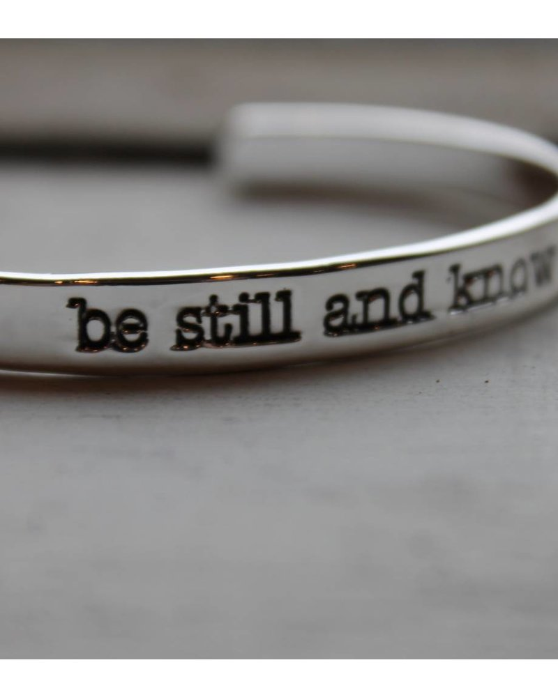 Be Still Silver Thin Cuff