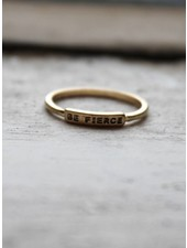 Be Fierce Gold Ring