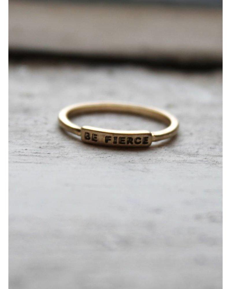 Be Fierce Gold Ring
