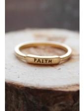 Faith Gold Ring
