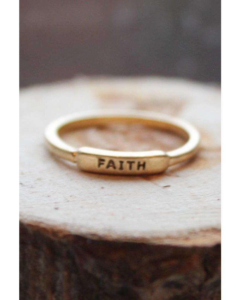 Faith Gold Ring