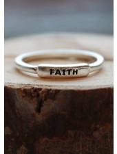 Faith Silver Ring