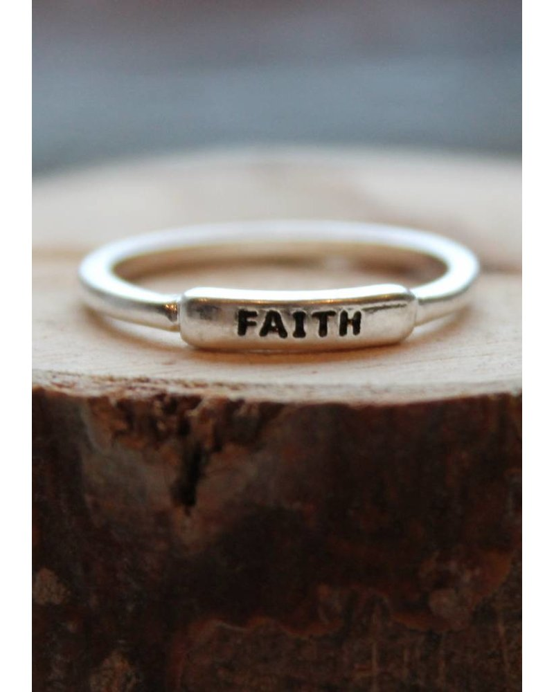 Faith Silver Ring