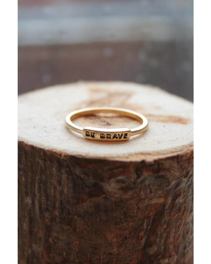 Be Brave Gold Ring