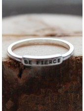 Be Fierce Silver Ring