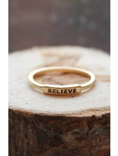 Believe Gold Ring