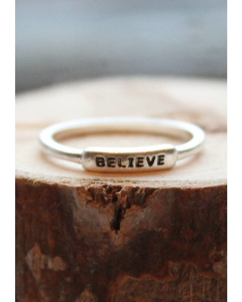 Believe Silver Ring