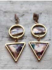 Bright Confetti Geo Triangle Earrings