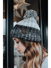 Grey Confetti Ball CC Beanie